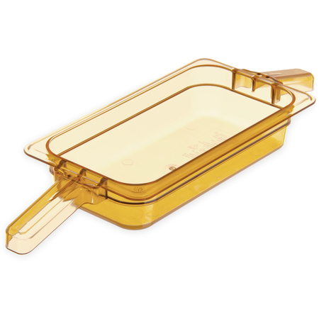 """30860HH13 - StorPlus™ Food Pan HH With 2 Handles 2.5"""" DP 1/3 Size - Amber"""