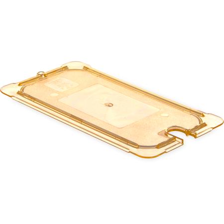 10477U13 - StorPlus™ Univ Lid - Food Pan HH Flat Notched 1/3 Size - Amber