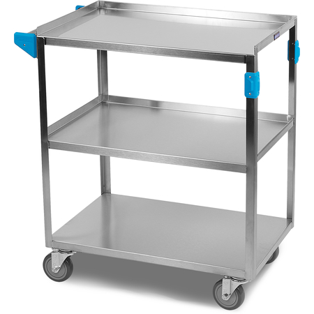 """UC3031827 - 3 Shelf Stainless Steel Utility Cart 300 lb Capacity 18""""W x 27""""L x 34""""H - Stainless Steel"""