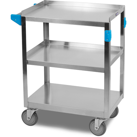 """UC3031524 - 3 Shelf Stainless Steel Utility Cart 300 lb Capacity 15.5 x 24""""W - Stainless Steel"""