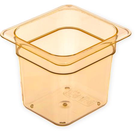 "3088513 - StorPlus™ Food Pan HH 6"" DP 1/6 Size - Amber"