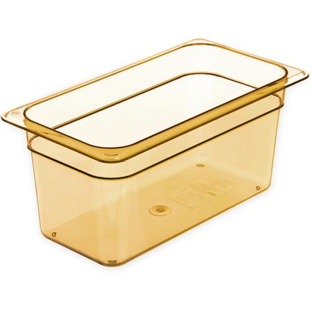 "3086213 - StorPlus™ Food Pan HH 6"" DP 1/3 Size - Amber"