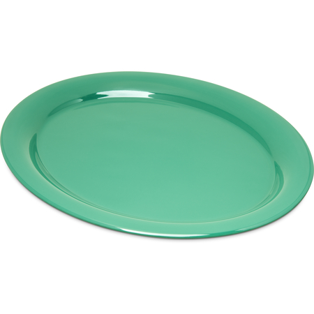 "4308009 - Durus® Melamine Oval Platter Tray 13.5"" x 10.5"" - Green"