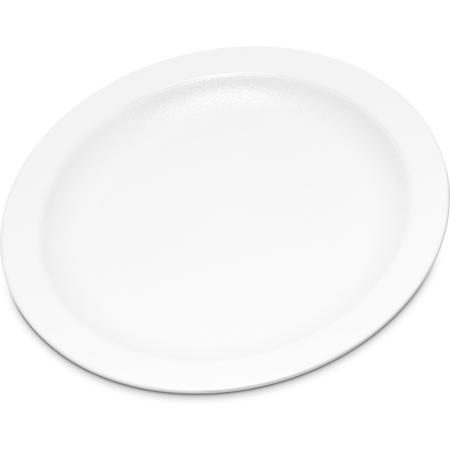"""PCD20602 - Polycarbonate Narrow Rim Plate 6.5"""" - White"""