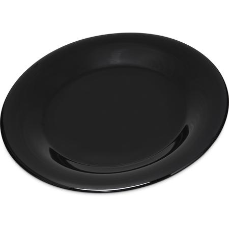 """4301203 - Durus® Melamine Wide Rim Dinner Plate 9"""" - Black"""