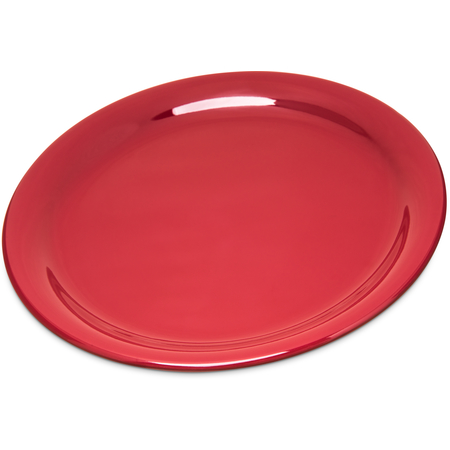 "4300458 - Durus® Melamine Narrow Rim Dinner Plate 9"" - Roma Red"