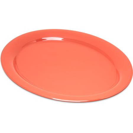"""4308052 - Durus® Melamine Oval Platter Tray 13.5"""" x 10.5"""" - Sunset Orange"""