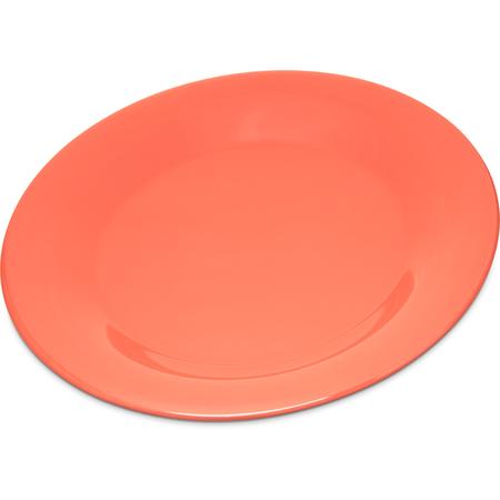 "4301252 - Durus® Melamine Wide Rim Dinner Plate 9"" - Sunset Orange"