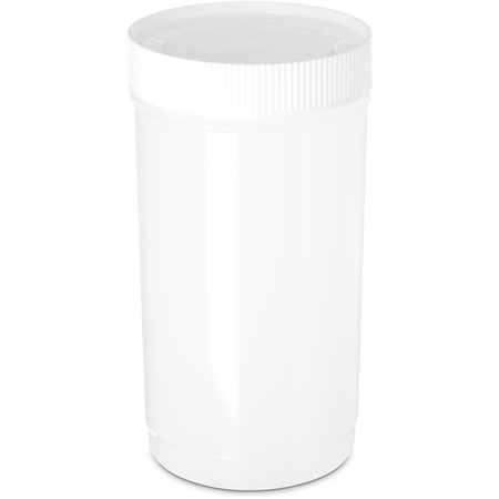 PS602N02 - Stor N' Pour® Quart Backup Container w/ Assorted Color Caps 1 Quart - White