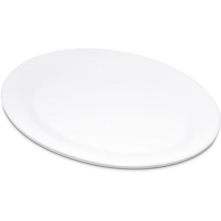 "4308602 - Durus® Melamine Oval Platter Tray 9.5"" x 7.25"" - White"