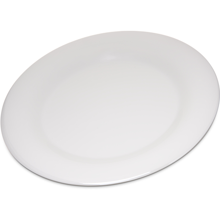 "4301042 - Durus® Melamine Dinner Plate Wide Rim 10.5"" - Bone"