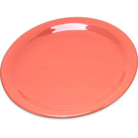 "4300652 - Durus® Melamine Salad Plate Narrow Rim 7.25"" - Sunset Orange"