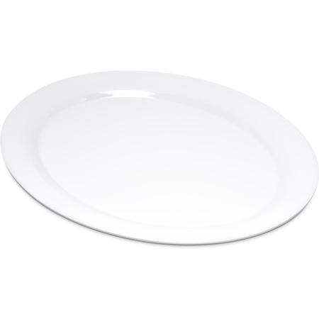 "4308002 - Durus® Melamine Oval Platter Tray 13.5"" x 10.5"" - White"