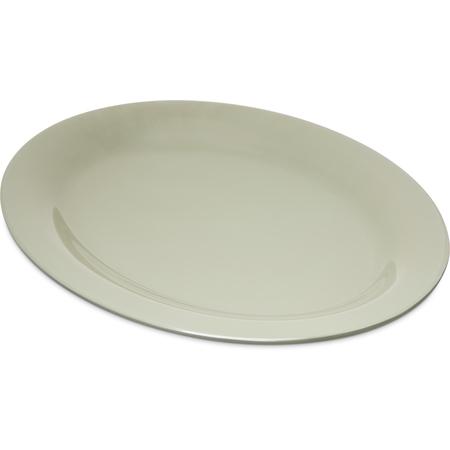 "4308216 - Durus® Melamine Oval Platter Tray 12"" x 9"" - Firenze Green"