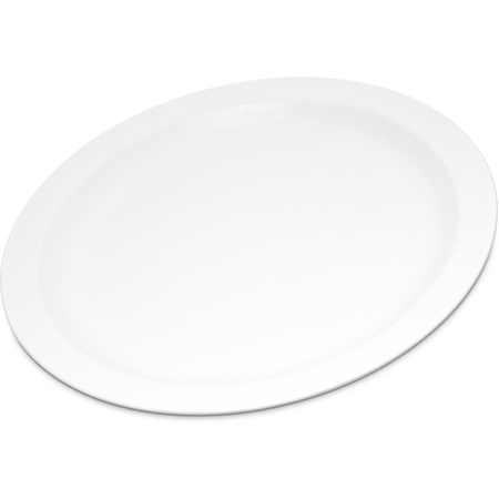 """PCD21002 - Polycarbonate Narrow Rim Plate 10"""" - White"""