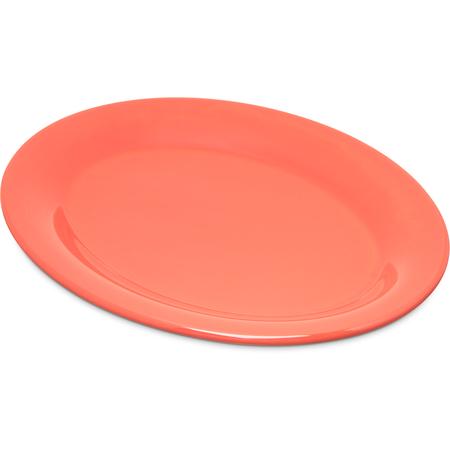 """4308652 - Durus® Melamine Oval Platter Tray 9.5"""" x 7.25"""" - Sunset Orange"""