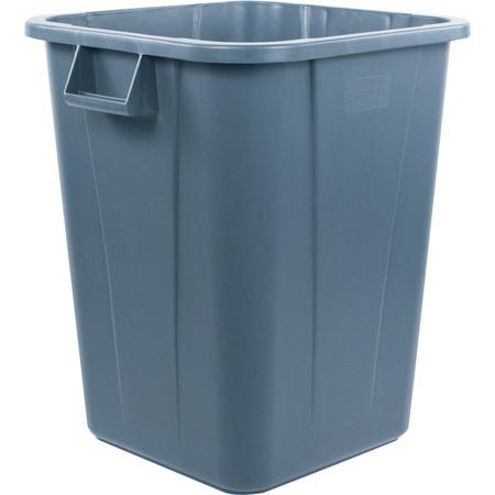 34154023 - Bronco™ Square Waste Bin Trash Container 40 Gallon - Gray
