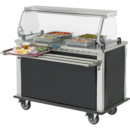 """DXHSIIHH - Hold-N-Serv™ MealtimeXpress Hot  Delivery Cart 52.40"""" X 28.74"""" - Stainless Steel"""