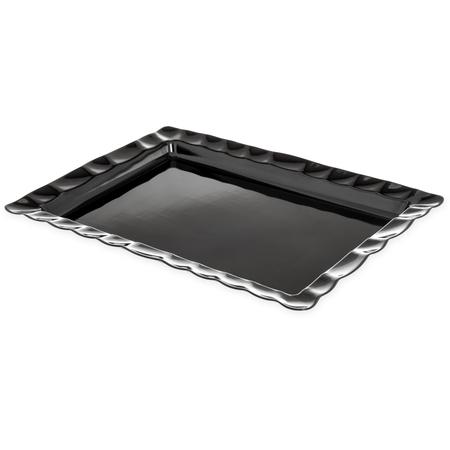 794803 - Displayware™ Rectangular Large Scalloped Tray 24.5 x 18.5 - Black