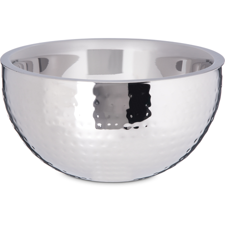 "609202 - Dual Angle Bowl w/Hammered Finish 3.38 qt, 10"" - Stainless Steel"