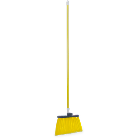 "4108204 - Sparta® Spectrum® Duo-Sweep® Angle Broom Flagged Bristle 56"" Long - Yellow"