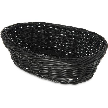 "655003 - Woven Baskets Oval Basket Small 9"" - Black"