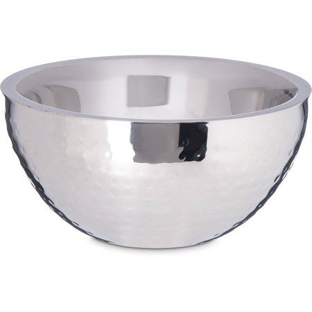 """609201 - Dual Angle Bowl w/Hammered Finish 1.7 qt / 8"""" - Stainless Steel"""
