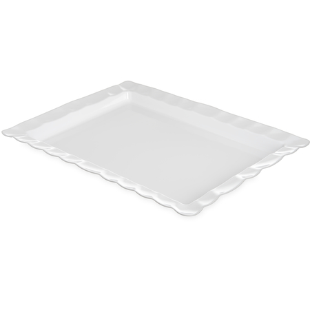 794802 - Displayware™ Rectangular Large Scalloped Tray 24.5 x 18.5 - White