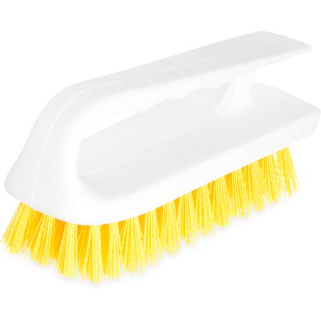 """4002404 - Sparta® Hand Scrub Brush 6"""" - Yellow"""