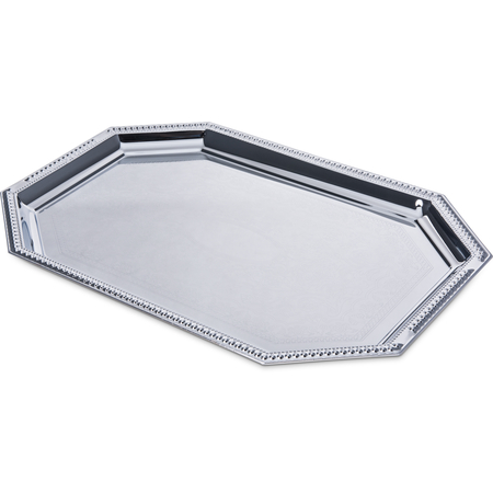 "608901 - Celebration™ Octagonal Tray w/Beaded Border 17-1/8"" x 11-3/4"""