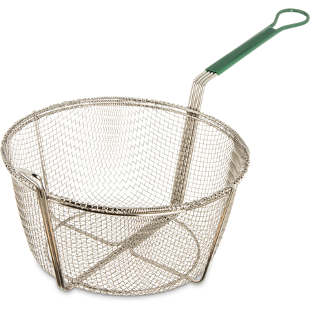 """601031 - Mesh Fryer Basket Cool Touch Handle 11-1/2"""" - Chrome"""
