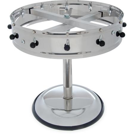 """3812MP - 12 Clip Portable Order Wheel 14"""" - Stainless Steel"""