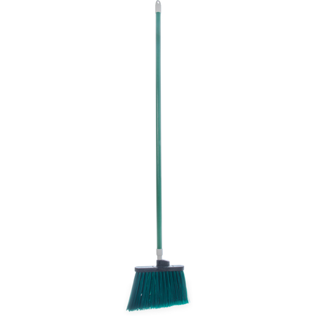 """4108209 - Sparta® Spectrum® Duo-Sweep® Angle Broom Flagged Bristle 56"""" Long - Green"""