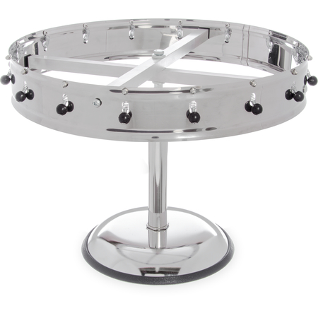 """3816MP - 16 Clip Portable Order Wheel 18"""" - Stainless Steel"""