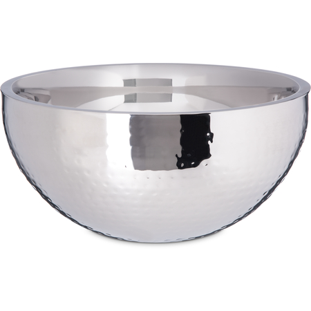 """609203 - Dual Angle Bowl w/Hammered Finish 5.75 qt, 12"""" - Stainless Steel"""