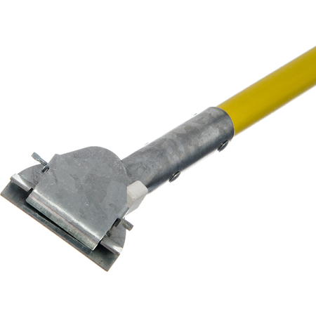 """36211304 - Fiberglass Dust Mop Handle with Clip-On Connector 60"""" - Yellow"""