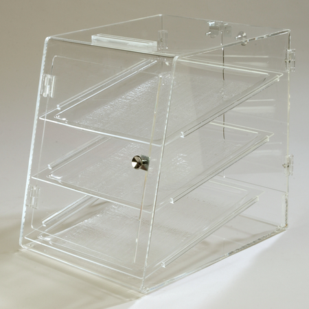 """SPD30307 - Three Tray, Self Serve Front & Back Door 18"""", 14"""", 17-1/2"""" - Clear"""