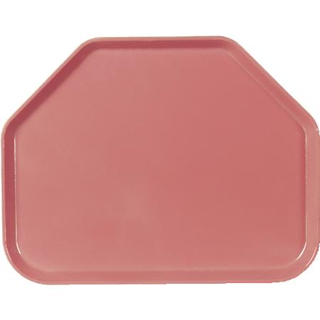 "1713FG066 - Glasteel™ Fiberglass Tray Trapezoid 18"" x 14"" - Mauve"