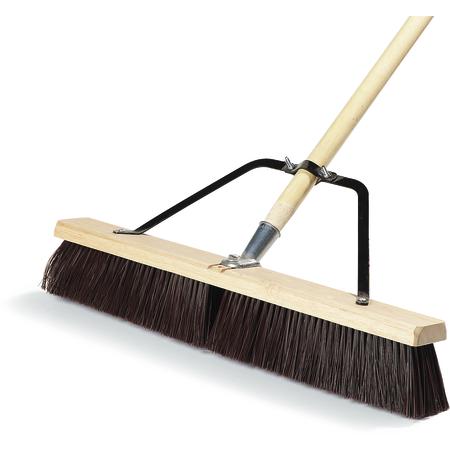 "367366TC24 - 24"" Medium Sweep w/Stiff Polypropylene Bristles Center & Softer Border 24"" - Black"