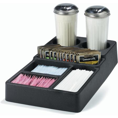 "1082803 - 6-Compartment Condiment Caddy 8"" x 14"" - Black"