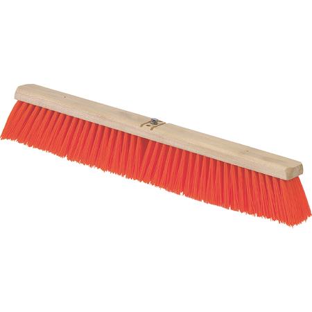 "3610762424 - Flo-Pac® Heavy Bristle Juno Style Push Broom Head (Handle Sold Separately) 24"" - Orange"
