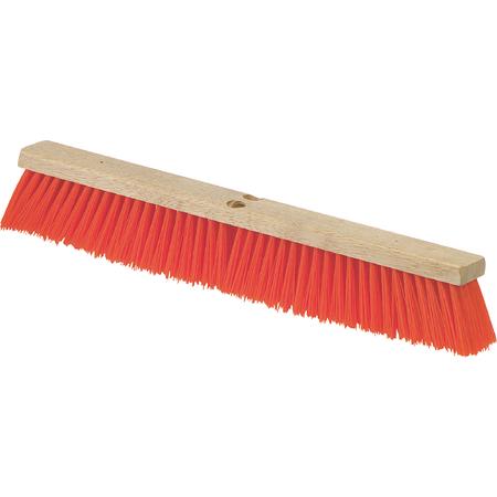 """36762424 - Flo-Pac® Heavy Polypropylene Sweep w/Brace 24"""" - Orange"""