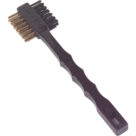 4579600 - Double Sided Utility Brush With Brass Bristles 7-1/4""