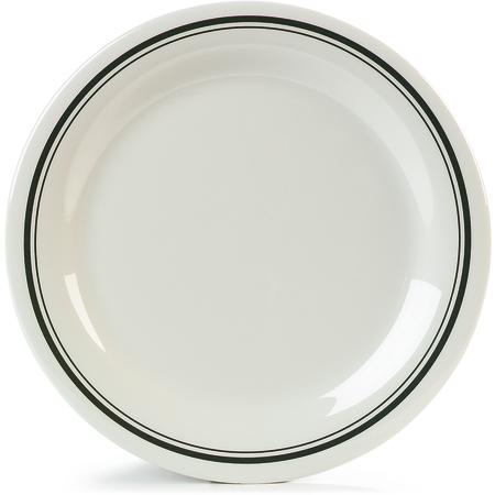 """43003905 - Durus® Melamine Dinner Plate 10.5"""" - Orleans on Bone"""