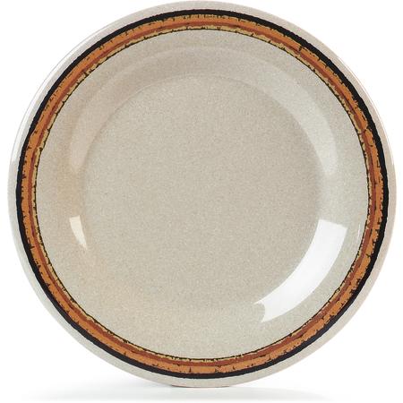 """43011908 - Durus® Melamine Wide Rim Dinner Plate 10.5"""" - Sierra Sand on Sand"""