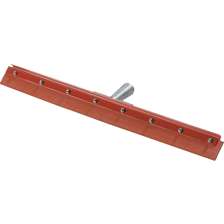 """4007600 - Flo-Pac® Straight Red Gum Rubber Floor Squeegee With Heavy Duty Steel Frame 24"""""""