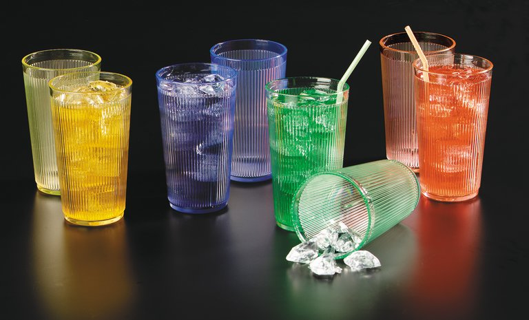 Crystalon® Tumblers In Caribbean™ Rimglow™