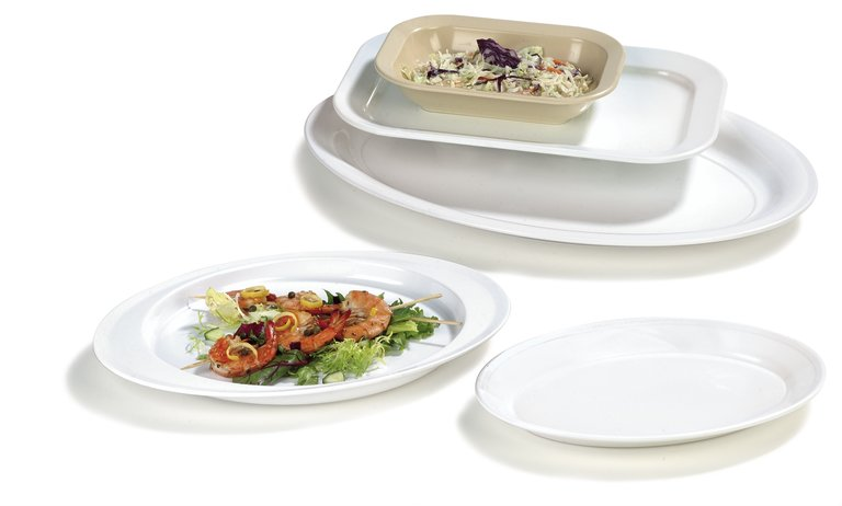 Rimmed Melamine Displayware
