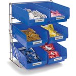 """Product Image for 381206LG - Wire Packet Rack, comes with 6 each 4 qt Containers 14"""", 12"""", 18"""""""