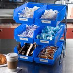 "Product Image for 381206LG - Wire Packet Rack, comes with 6 each 4 qt Containers 14"", 12"", 18"""